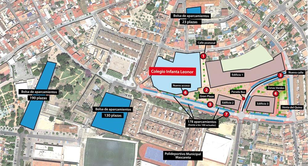 Una Gran Zona Peatonal De Más De 7000 M2 Rodeará El Colegio Infanta