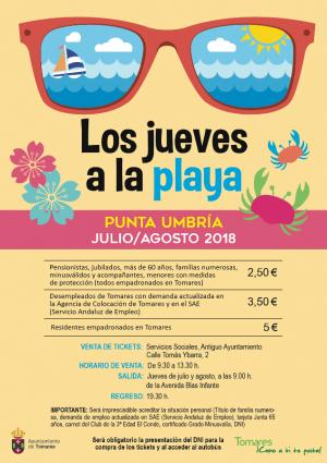 """LOS AUTOBUSES DE """"LOS JUEVES A LA PLAYA"""" ACERCAN LA COSTA A TOMARES"""